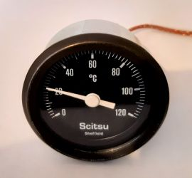 Scitsu Temperature Gauge Black Face
